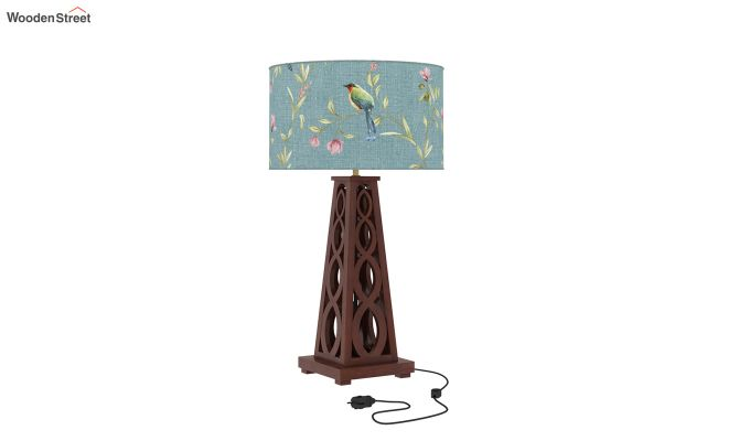 Spiro Table Lamp (Walnut Finish, Bubble Robins)-2