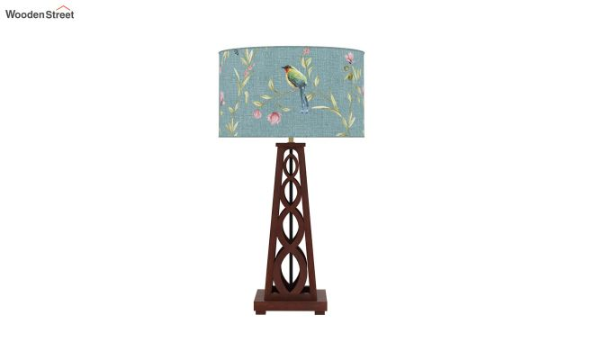 Spiro Table Lamp (Walnut Finish, Bubble Robins)-3