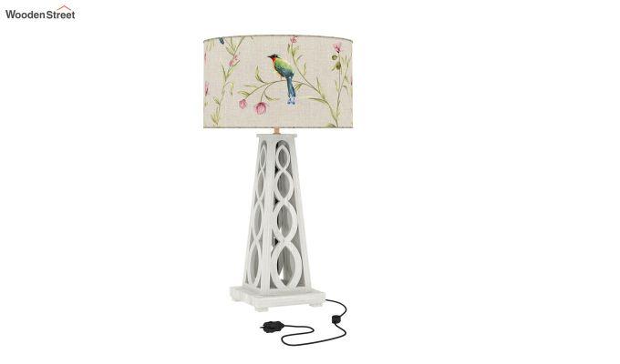 Spiro Table Lamp (White Finish, Cream Robins)-2