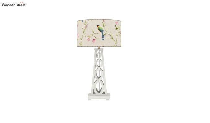 Spiro Table Lamp (White Finish, Cream Robins)-3