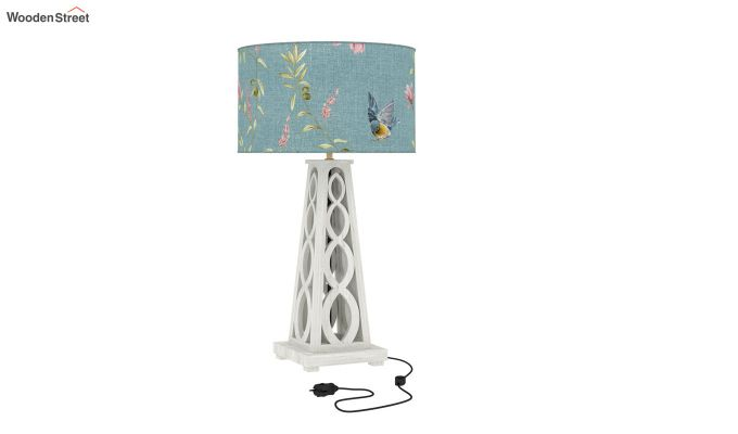 Spiro Table Lamp (White Finish, Bubble Robins)-2