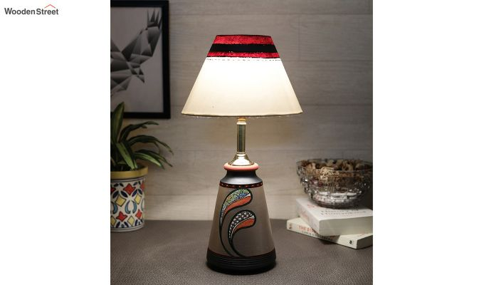 Spring Flowers Terracotta Taper Lamp-1