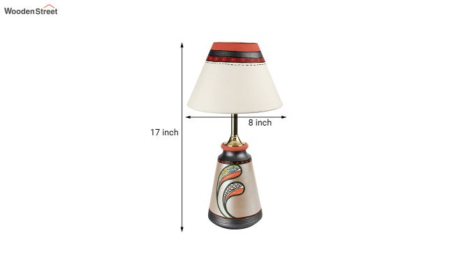 Spring Flowers Terracotta Taper Lamp-7