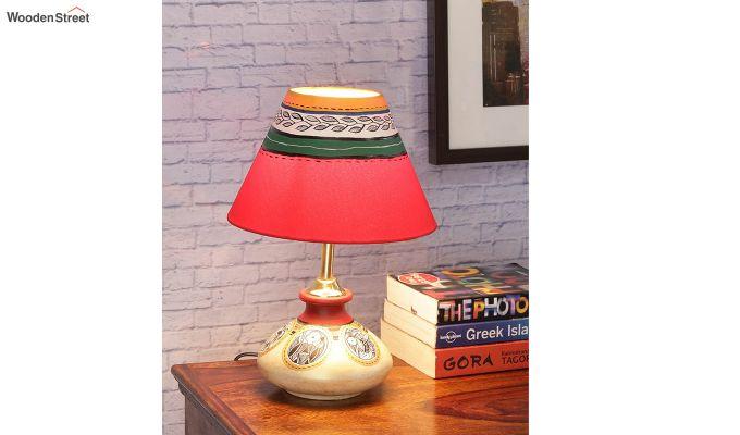 Terracotta Flat Simmer Gold Table Lamp-1