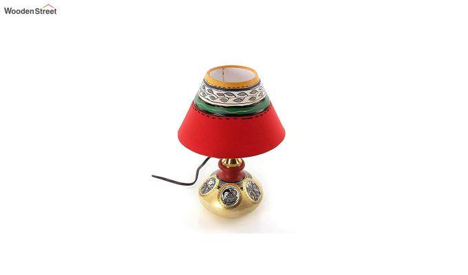 Terracotta Flat Simmer Gold Table Lamp-3