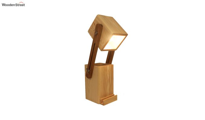 Toby Wooden Table Lamp with Desk Organiser-3