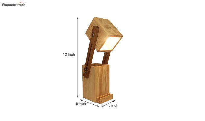 Toby Wooden Table Lamp with Desk Organiser-6