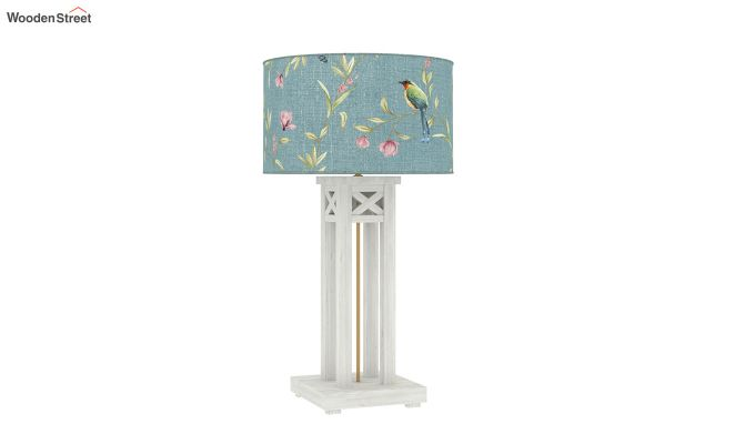 Tower White Distress Table Lamp (Bubble Robins)-3