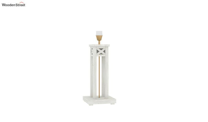 Tower White Distress Table Lamp (Bubble Robins)-4
