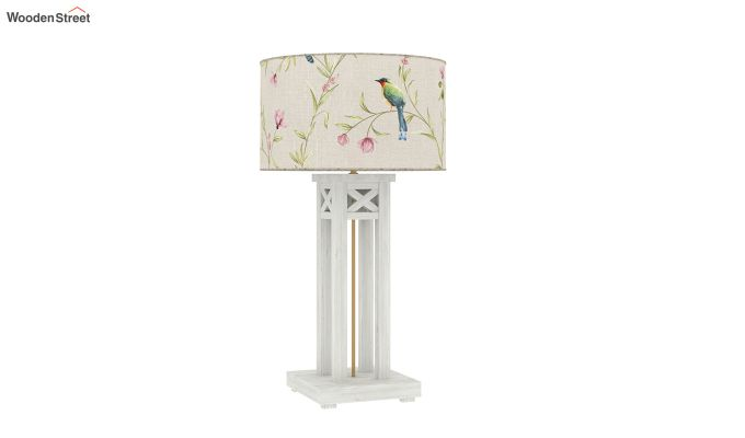 Tower White Distress Table Lamp (Cream Robins)-3