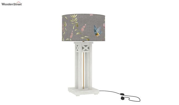 Tower White Distress Table Lamp (Grey Robins)-2