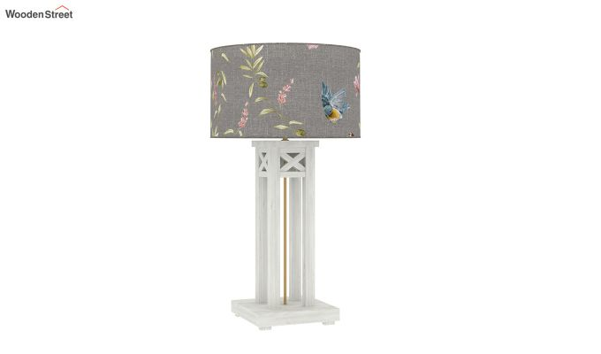 Tower White Distress Table Lamp (Grey Robins)-3