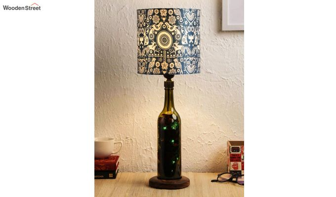 Tribal Art Bottle Table Lamp-2