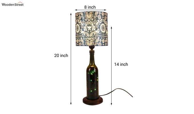 Tribal Art Bottle Table Lamp-3