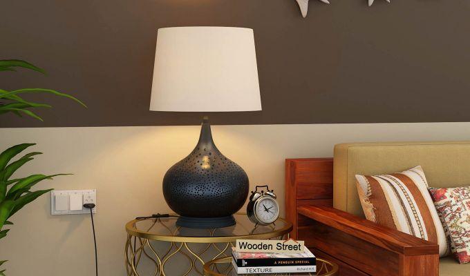 Wick Metal Black Table Lamp-1