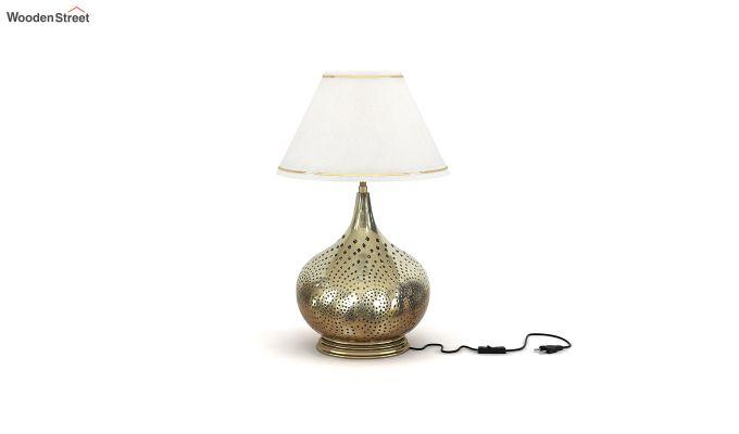 Wick Metal Golden Table Lamp-2