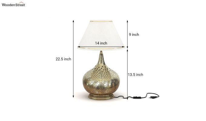 Wick Metal Golden Table Lamp-3