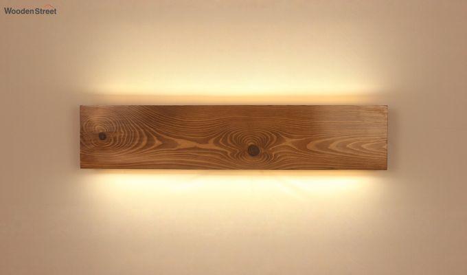 Aura24 LED Brown Wooden Wall Light-2