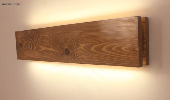 Aura24 LED Brown Wooden Wall Light-3