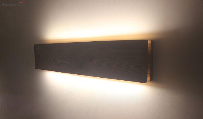 Aura24 LED Brown Wooden Wall Light-5