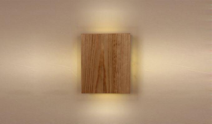 Aura6 LED Beige Wooden Wall Light-2