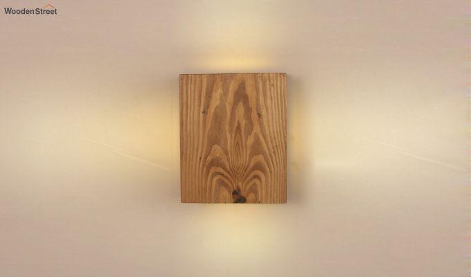 Aura6 LED Brown Wooden Wall Light-2