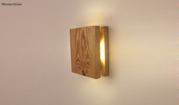 Aura6 LED Brown Wooden Wall Light-3