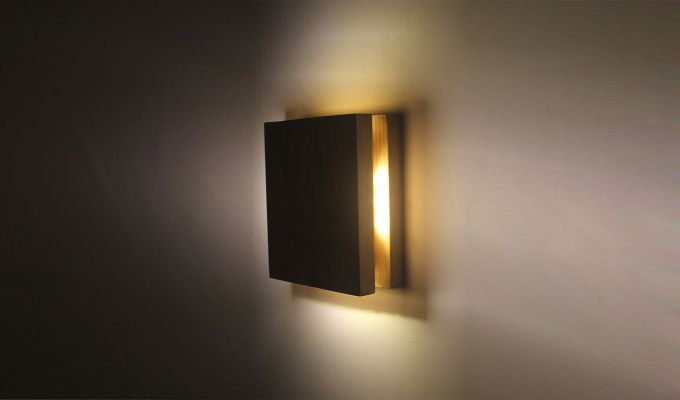 Aura6 LED Brown Wooden Wall Light-5