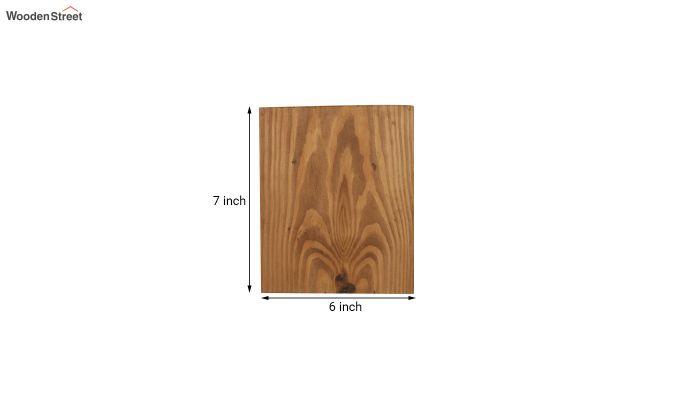 Aura6 LED Brown Wooden Wall Light-6