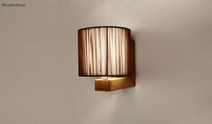 Contemporary Brown Wooden Wall Light-3