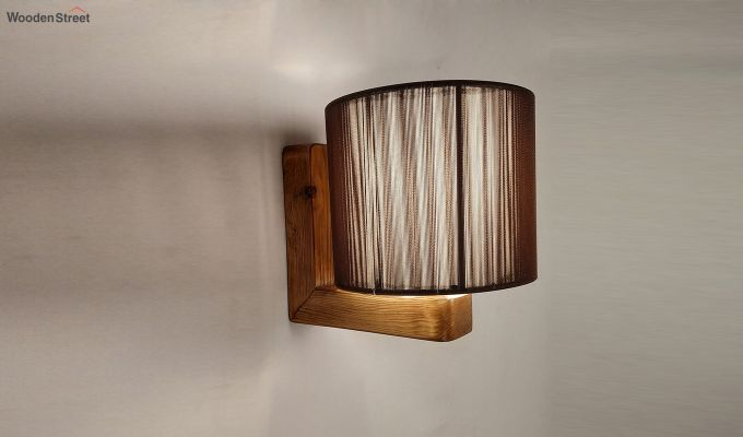 Contemporary Brown Wooden Wall Light-4