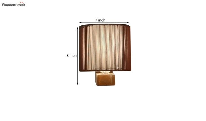 Contemporary Brown Wooden Wall Light-5