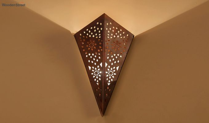 Moroccan Cone Copper  Wall Light-1