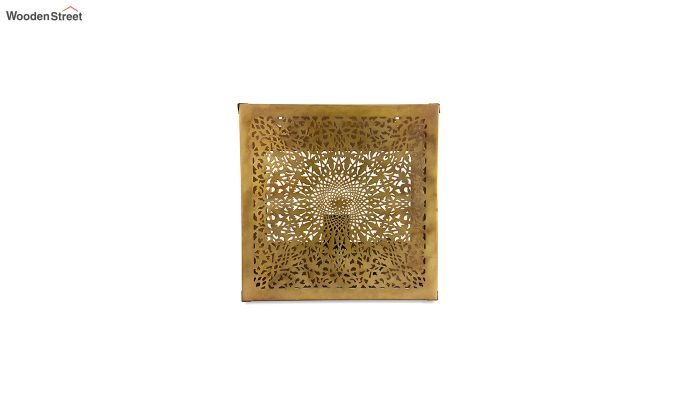 Oriental Brass Square Wall Light-2