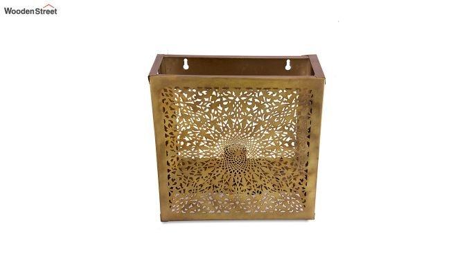 Oriental Brass Square Wall Light-3