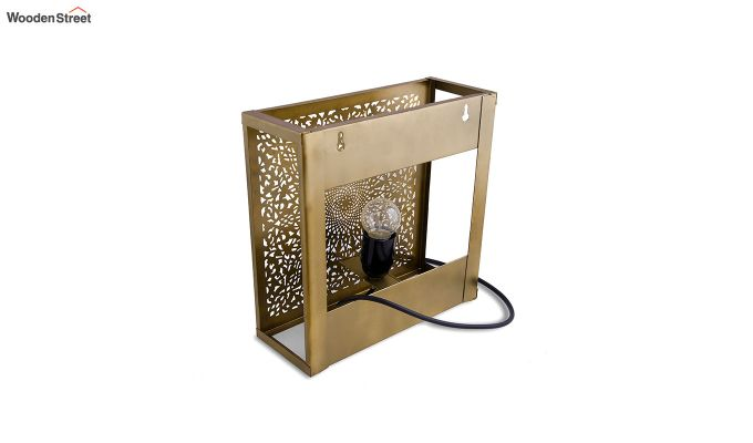 Oriental Brass Square Wall Light-4