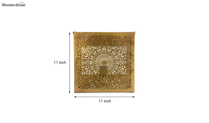 Oriental Brass Square Wall Light-5
