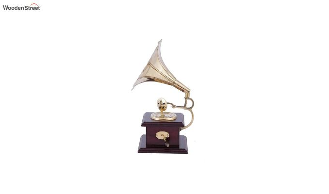 Brass & Wood Gold Gramophone-3