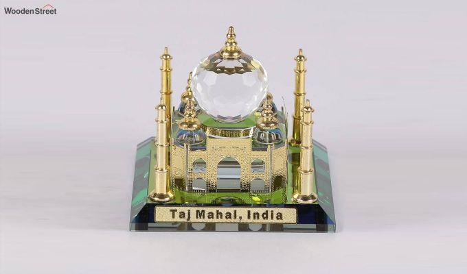 Crystal Brass 3-inch Taj Mahal Miniature-2