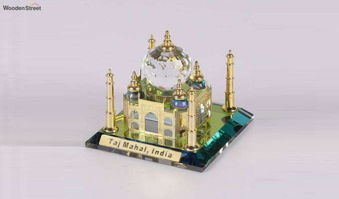 Crystal Brass 3-inch Taj Mahal Miniature-3