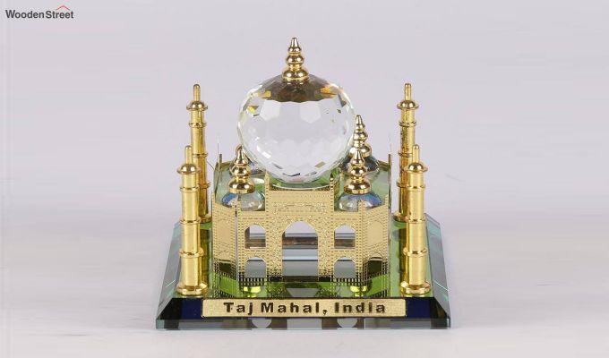 Crystal Brass 3.5-inch Taj Mahal Miniature-1