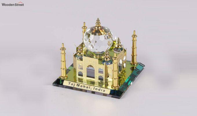 Crystal Brass 3.5-inch Taj Mahal Miniature-2