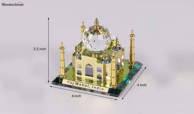 Crystal Brass 3.5-inch Taj Mahal Miniature-3