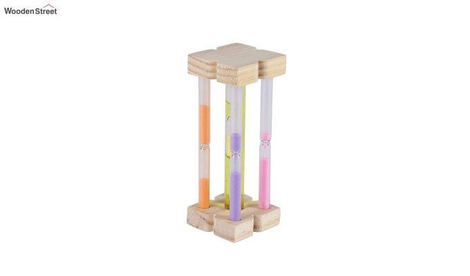 Five Coloured Wood Sand Timer-2