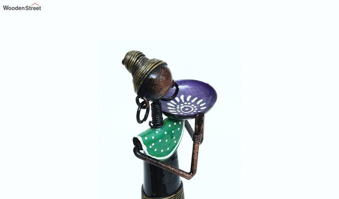 Iron Tribal Lady Farmer Decorative Figurine-3