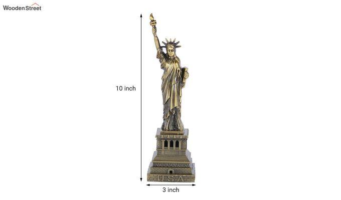 Metallic 10-inch Statue Of Liberty Miniature-3