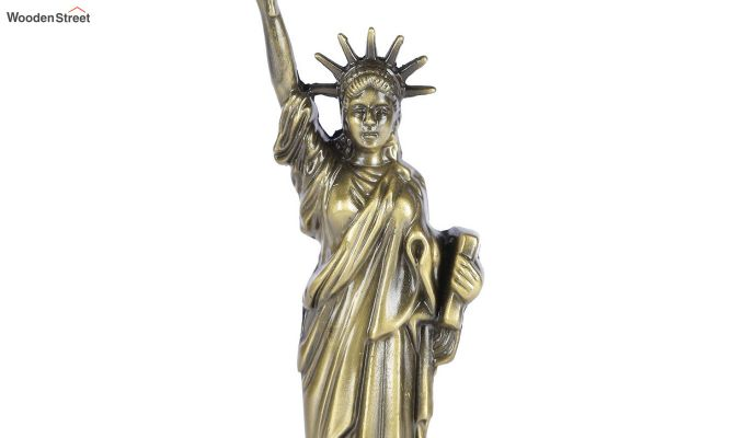 Metallic 13-inch Statue Of Liberty Miniature-2