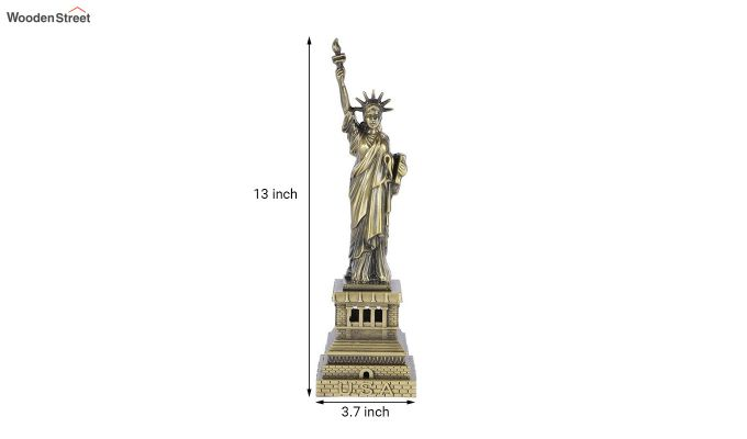 Metallic 13-inch Statue Of Liberty Miniature-3