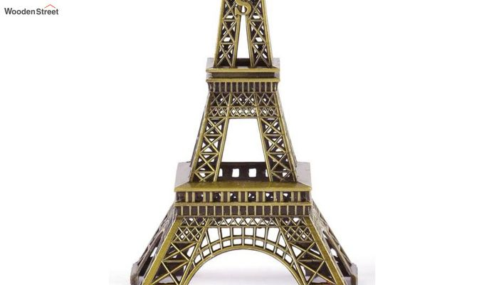 Metallic Black and Green 9-inch Eiffel Tower-3