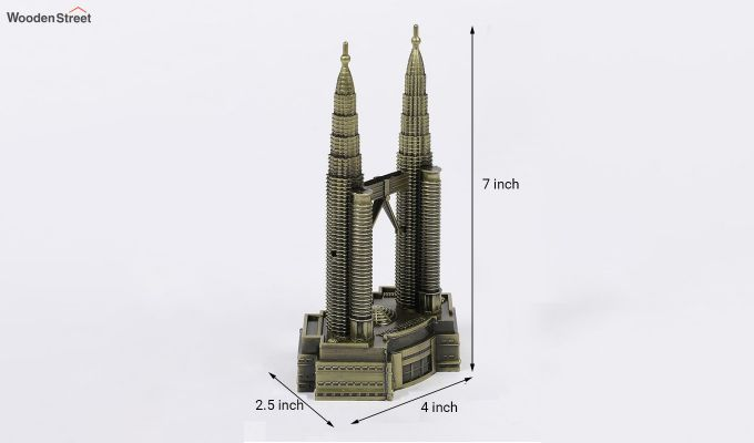 Metallic Petronas 7-inch Twin Tower Miniature-5